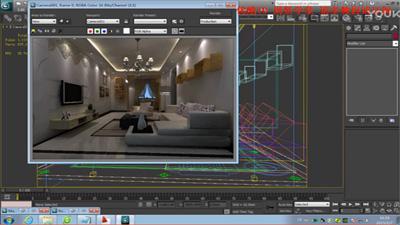 新手福利室内设计教程完整项目实战-现代客厅-从CAD到出图